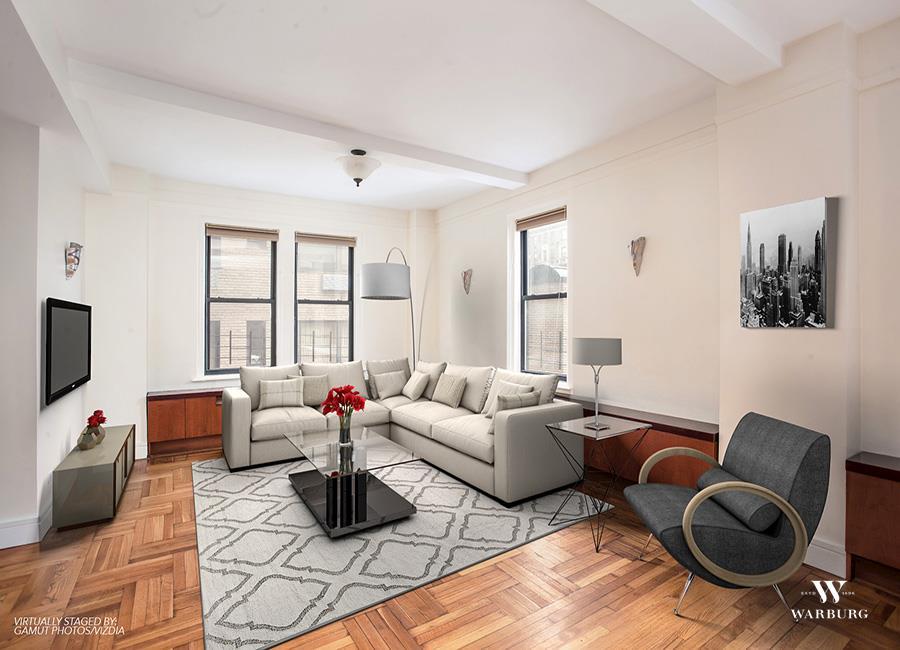 55 e 86th st 9c upper east side new york realdirect for Living room 86th street