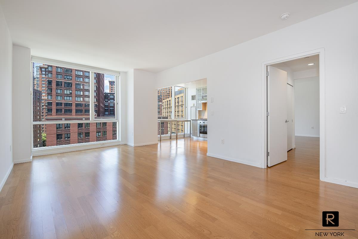 Excellent Layout, Split 2 Bedroom facing West (Park and Water views).  Apartment features Floor-to-Ceiling Windows, Hardwood Floors, Washer/Dryer. Luxury kitchen includes appliances from Sub Zero, Viking and Bosch.200 Chambers is a full service Tribeca building with amenities including a fitness center, residents' lounge, courtyard garden, pool and children's playroom. Whole Foods, Barnes and Noble and top restaurants such as Marc Forgiorne, Locanda Verde, Tribeca Grill and Shake Shack are just steps away.No Pets.