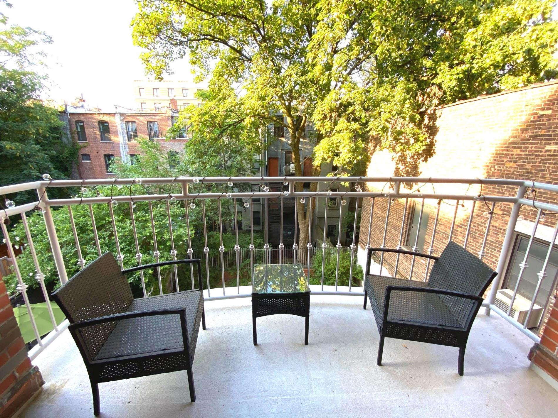 Enjoy large two bedroom apartment in historical Hamilton Heights for a great price. The building is conveniently located close to the Riverside Park, 5 minutes from Broadway with lots of great cafes, restaurants, bars, supermarkets and shops, just 2 blocks from 1 train and close to A,B,C,D trains. You can also benefit from a full size pool and gym at Riverside Sate Park. The building has intercom and key elevator, video security system and a garden. Only two units per floor. The apartment has two split bedrooms with two full bathrooms. Open kitchen is equipped with granite counter top, stainless steel appliances including dishwasher and microwave. Living room has a wonderful balcony facing the garden. The apartment has a total of 5 walk-in closets, washing and drying machines, hardwood floors, A/C, individual heat control. Close to Columbia.