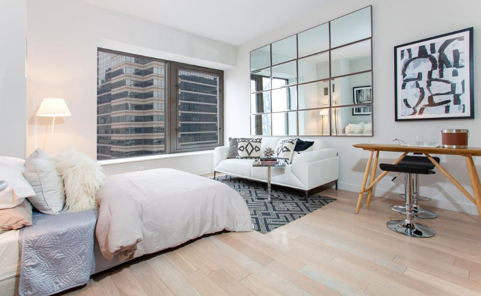 *Eligible for Rent-to-Own Program. Please inquire for further details and Rent-to-Own pricing**Sponsor Unit  no fee, no condo application! Please Call to schedule an appointment for a Virtual Tour or in person showing*Welcome to this studio gem overlooking the historical downtown. This residence features high ceilings, in-unit washer/dryer, and abundant closet space.The kitchen design is lavished with a true chef's dream space in mind complete with Caeserstone countertops, Boffi lacquered kitchen cabinetry in addition to appliances by Sub-Zero, Liebherr, Bosch, Miele, Electrolux, and Sharp. Bathroom features include Botticino semi classic marble flooring and wide plank cerused oak flooring throughout the apartment exemplify the top of the line finishes you can expect in this exquisite apartment.Building amenities include 24-hour doorman, 24-hour gym with Peloton bikes, 360 degree terrace, terrace lounge, club lounge with billiards, and children's playroom. From shopping at Brookfield Place buzzing with prominent brands such as Le District, Saks Fifth Avenue, Hermes, and Burberry, World Trade Center you'll be nearby it all. With easy access to many subway lines and the Fulton Center, to major food markets and restaurants like Eataly, Nobu, El Vez, Blue Smoke, North End Grill, and many more, there's something for everyone. There's also the South Street Seaport a short distance away with its many shops and eateries situated on the East River with stunning views of Brooklyn and Manhattan's historic bridges.Sponsor Unit  No Board Approval Required!Disclaimer: Please note that images of new lobby above are renderings. Dimensions are approximate and subject to normal construction variances and tolerances. Plans and dimensions many contain minor variations from floor to floor.Equal housing opportunity. Sponsor reserves the right to make changes in accordance with the terms of the Offering Plan. The complete Offering Terms are in the Offering Plan available from the Sponsor.