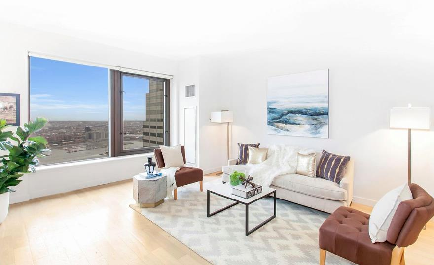 *Eligible for Rent-to-Own Program. Please inquire for further details and Rent-to-Own pricing**Sponsor Unit  no fee, no condo application! Please Call to schedule an appointment for a Virtual Tour or in person showing**The homes office space is virtually staged for different representations*This spectacular and unique studio plus home office unit offers eastern views of Brooklyn and the East River. Residence 31R features over 10 ft lofted ceilings, in-unit washer/dryer, double sink master bathroom vanity in addition to a powder room. Bathroom details such as Botticino semi classic marble flooring and wide plank cerused oak flooring throughout the unit exemplify the top of the line finishes you can expect in this exquisite apartment.The kitchen design is lavished with a true chef's dream space in mind complete with Caeserstone countertops, Boffi lacquered kitchen cabinetry in addition to appliances by Sub-Zero, Liebherr, Bosch, Miele, Electrolux, and Sharp. Bathroom features include Botticino semi classic marble flooring and wide plank cerused oak flooring throughout the apartment exemplify the top of the line finishes you can expect in this exquisite apartment.Building amenities include 24-hour doorman, 24-hour gym with Peloton bikes, 360 degree terrace, terrace lounge, club lounge with billiards, and children's playroom.From shopping at Brookfield Place buzzing with prominent brands such as Le District, Saks Fifth Avenue, Hermes, and Burberry, World Trade Center you'll be nearby it all. With easy access to many subway lines and the Fulton Center, to major food markets and restaurants like Eataly, Nobu, El Vez, Blue Smoke, North End Grill, and many more, there's something for everyone. There's also the South Street Seaport a short distance away with its many shops and eateries situated on the East River with stunning views of Brooklyn and Manhattan's historic bridges.Sponsor Unit  No Board Approval Required!Disclaimer: Please note that images of new lobby above are 