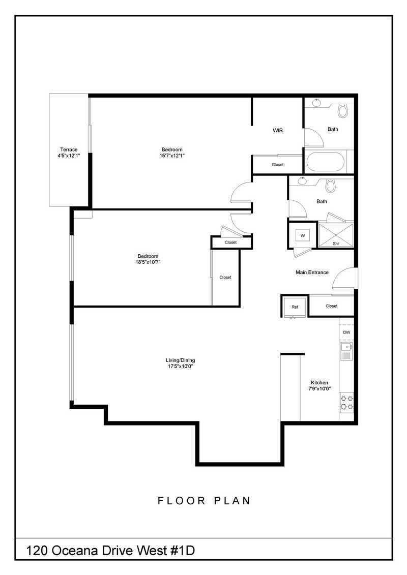 Apartment for sale at 120 Oceana Drive West, Apt 1-D