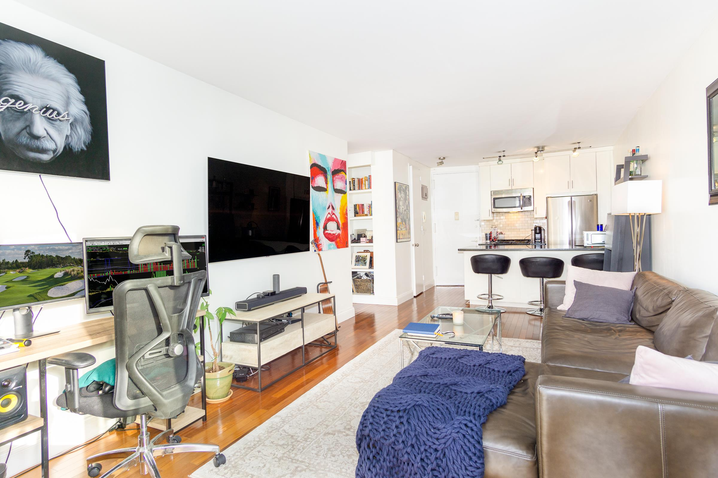 With striking views of the iconic Flatiron Building, the west side of Madison Square Park, and a spacious private balcony, this beautiful and bright one-bedroom at the beloved Madison Green Condominium has it all!The H Line at Madison Green provides generous room proportions in both the living room and king-sized bedroom thatwillcomfortably fit most any living and dining combination. Further, the balcony area can easily accommodatea small love seat and dining set as you gaze out onto one of NYC's most iconic views from your own private outdoor space.The apartment features:*Large and very deep entry coat and storage closet*Fully and beautifully renovated open kitchen*Granite counters with tons of countertop space*Four burner gas range*Custom built cabinets*Full-sized side-by-side stainless fridge*Full-sized dishwasher*Ample storage in the kitchen bar top*Built-in breakfast bar*Beautiful hardwood floors*Centralized Heat and Air Conditioning*CitiQuiet windows*Large Private Balcony*King Sized bedroom*Massive bedroom closets*Bedroom views of the Flatiron BuildingThe building features:*24 Hour Doorman and Concierge*Fitness Center*Laundry on every floor*Dry Cleaning Services*Live in Superintendent*Sky Lounge and Entertainment Space*Community Garden and Patio Space*On-Site ATM Machine*On-Site Garage Parking attachedMadison Green is situated on one of the most desired and beloved corners of New York City,mere feet away from Madison Square Park, Eataly, Whole Foods, incredible bars, and restaurants, and is also only a short distance to Gramercy Park and Union Square. Furthermore, the R and W train is located less than 100 feet from the front entrance to Madison Green, and there is also very easy access to the M23 Crosstown bus to get you anywhere in the city quickly and easily.Sorry, no pets.Brokers CYOF
