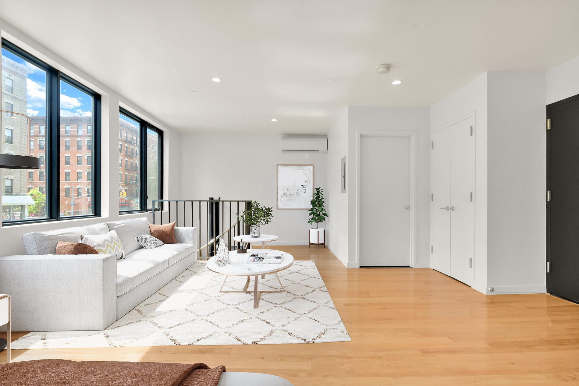 If the contract is signed in the next 45 days (until October 5th), the Sponsor will agree to pay two (2) years of property taxes upon closing as construction credit.Welcome to Be.live Harlem! This luxurious new development 1Br, 1 bath duplex boasts a stunning design and high quality finishes throughout: a spiral staircase, natural red oak hardwood flooring, Pella windows and doors, central air conditioning, washer and dryer. The kitchen is finished with custom cabinetry, Berrtazoni appliances, arctic white quartz countertops, and matte black hardware. The modern bathroom is equipped with oversized frameless glass shower stalls and accented by black porcelain tile.Amenities include a virtual doorman, keyless entry, bike storage, common furnished patio & a fitness center with the latest Peloton equipment.Conveniently located, Be.Live is 1.5 block aways from the B & D train at the 155 train station and the M10 bus stop is right outside of the building. Just 1 block away you will find Citi bikes, Jackie Robinson Park, the USPS postal office, delicatessens, and places of worship. Be.Live is located 1 train stop away from Yankee Stadium and has easy access out of New York city via the Henry Hudson Parkway and Harlem River Drive.