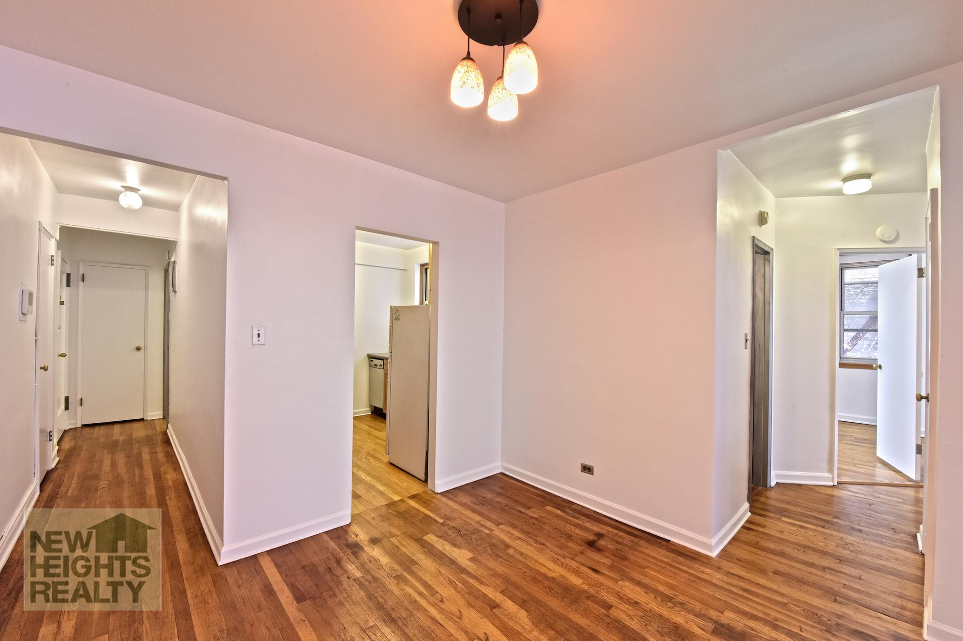 This very large two-bedroom unit can easily be converted to a three-bedroom apartment. Or convert this extra room to a home office or even a formal dining room. The option is yours.Plenty of closet space in the reasonably priced home. There is a large, open dining area leading to a very spacious living room. Hardwood floors.Beautiful elevator building just steps from Inwood Park. The building features include; live-in super, pet-friendly, bike and storage room, laundry room, and garage (waitlisted).Across the street from Inwood Hill Park and playground and just steps from Isham Park, Bruce's Garden, the Saturday Farmer's Market, and tons of restaurants. Close to Metro-North, #1 & A trains and Express bus. This is a must-see!Maintenance does not include a Capital assessment of $208.37 to run thru 07/2023 and a fuel surcharge of $20.04 thru 10/2021.