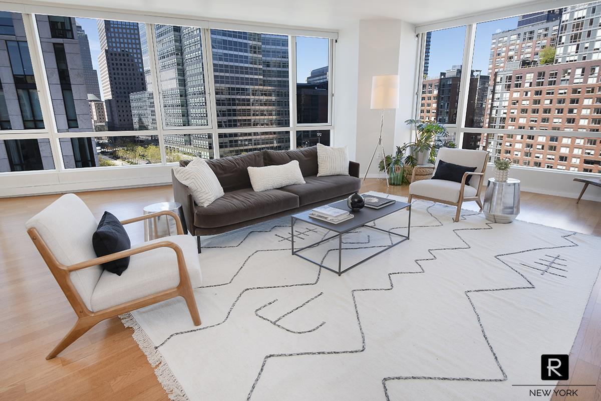 Extra large 2,200 sqft corner 3 Bedroom / 3 Bathroom apartment facing West, South and East.  Whole Foods conveniently located across the street.  On-site garage!This triple-exposure apartment has open views, looking out at the Battery Park ballfield and at plenty of trees.  Recently renovated with upgraded lighting, cabinetry, kitchen appliances.  Kitchen features appliances from Subzero, Miele, Bosch and a center island.  200 Chambers is a full service luxury building with concierge, roofdeck, swimming pool, fitness center, residents' lounge, zen garden.  Close to Washington Market Park, Greenwich Street Farmers' Market, Equinox, Westfield Mall, Brookfield Place, Soulcycle.  Subway trains 1/2/3/A/C/E.
