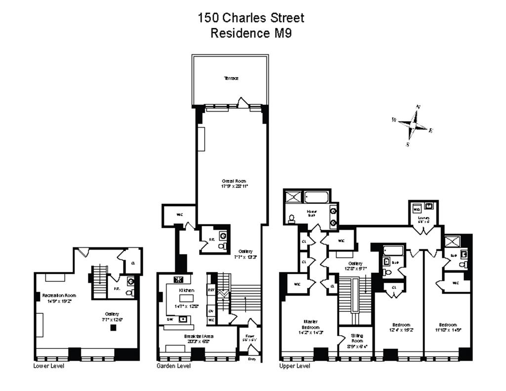 150 charles street m9 west village new york realdirect for 150 charles street floor plans