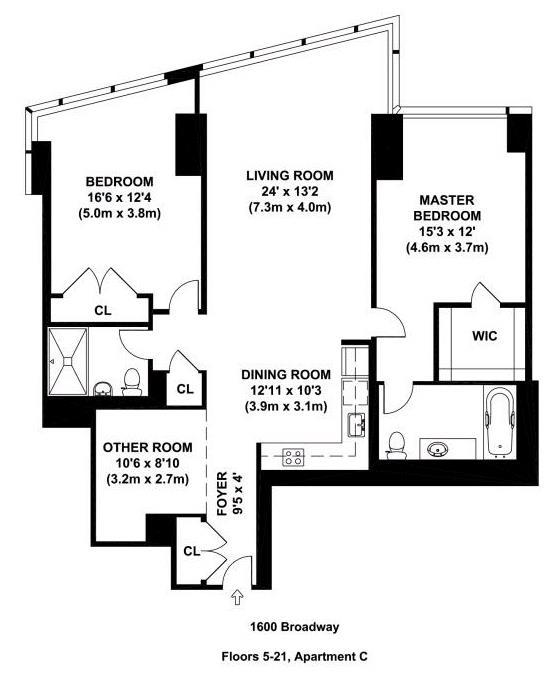 1600 broadway 20c midtown new york realdirect for 10 rockefeller plaza 4th floor new york ny 10020