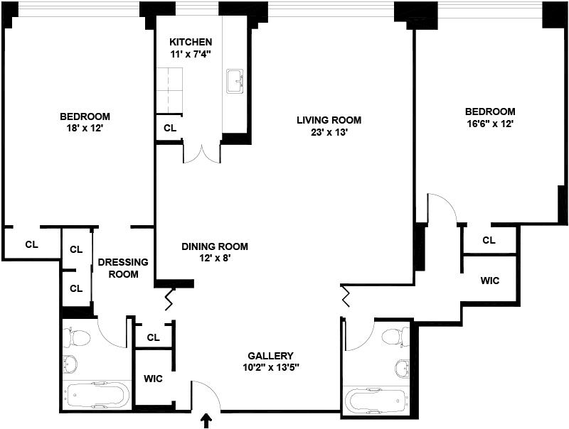 Floor plan of QUEEN ANNE, 155 East 76th Street, 6B