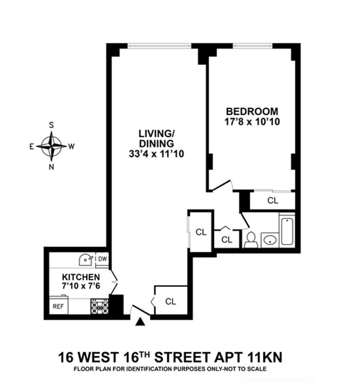 Floor plan of chelsea lane 16 west 16th street 11kn for 16 brookers lane floor plans