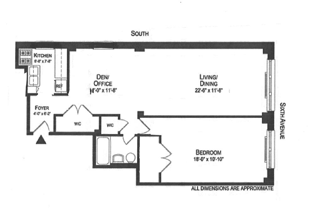 Floor plan of 54 West 16th Street, 6A - Chelsea, New York