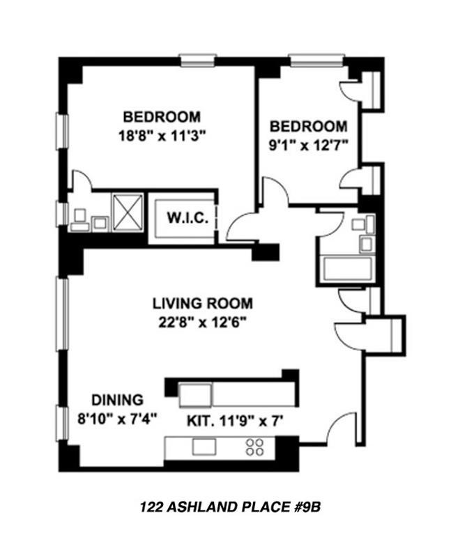 122 ashland pl 9b downtown brooklyn new york realdirect for 15 dunham place brooklyn ny floor plans