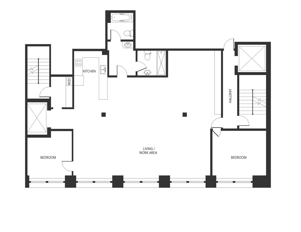 Floor plan of 131 Prince St, 4F - SoHo - Nolita, New York
