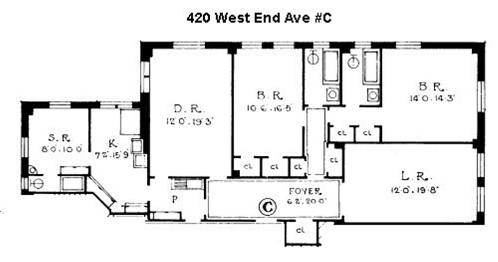 420 West End Avenue, 4-C Upper West Side New York NY