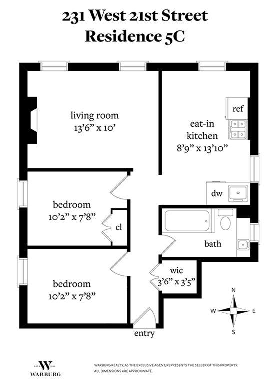 231 west 21st street apt 5c midtown chelsea ny 10011 for 1010 midtown floor plans