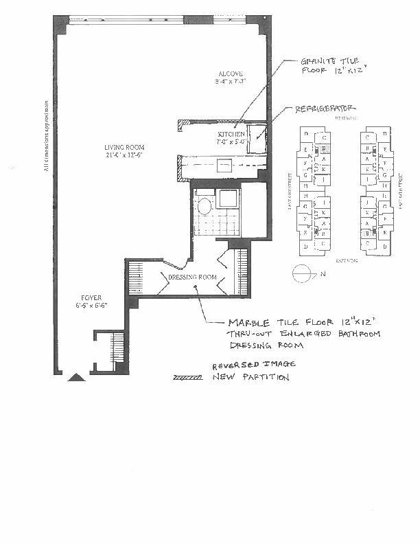 Floor plan of 425 East 63rd Street, E3B - Upper East Side, New York
