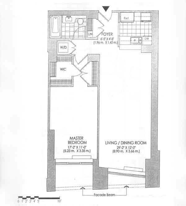 Floor plan of 120 Trump Place, 120 Riverside Boulevard, 4H - Upper West Side, New York