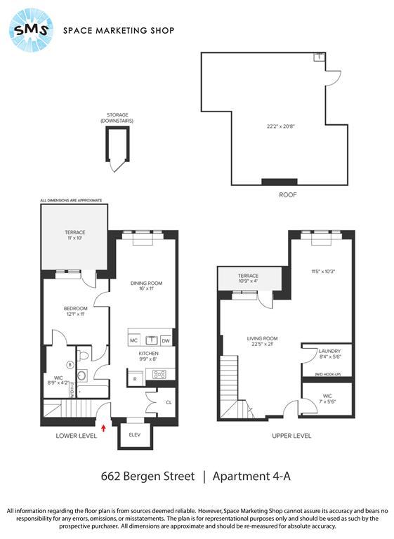 Floor plan of 662 Bergen St, 4A - Prospect Heights, New York