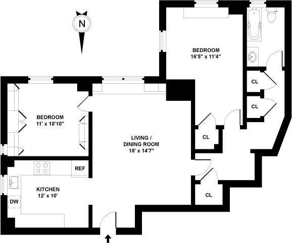 45542 on Co Op City Apartments Floor Plans 2 Bedrooms