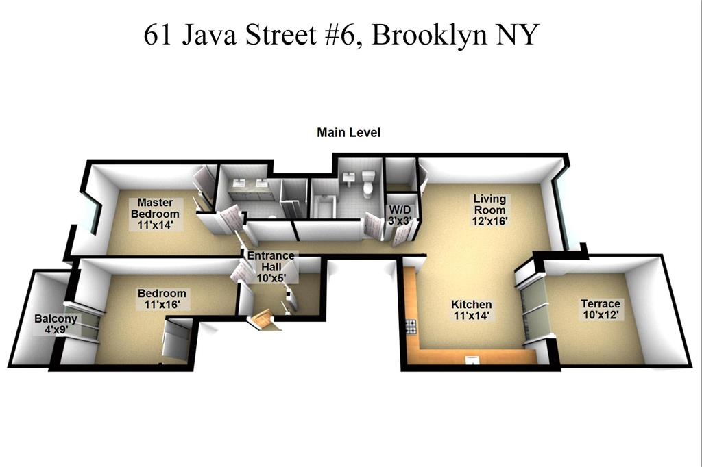 Single Family Home for Sale at 61 Java Street - Apt 6 Brooklyn, New York 11222 United States