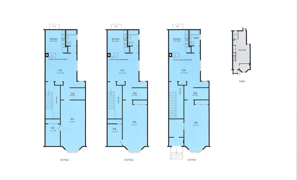 Casa Multifamiliar por un Venta en 725 Humboldt Street 725 Humboldt Street Brooklyn, Nueva York 11222 Estados Unidos