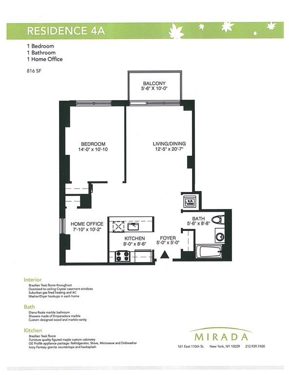 Additional photo for property listing at 161 East 110th Street #4A  纽约, 纽约州 10029 美国