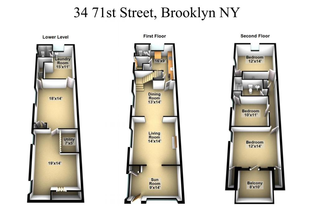 Single Family Home for Sale at 34 71st Street Brooklyn, New York 11209 United States