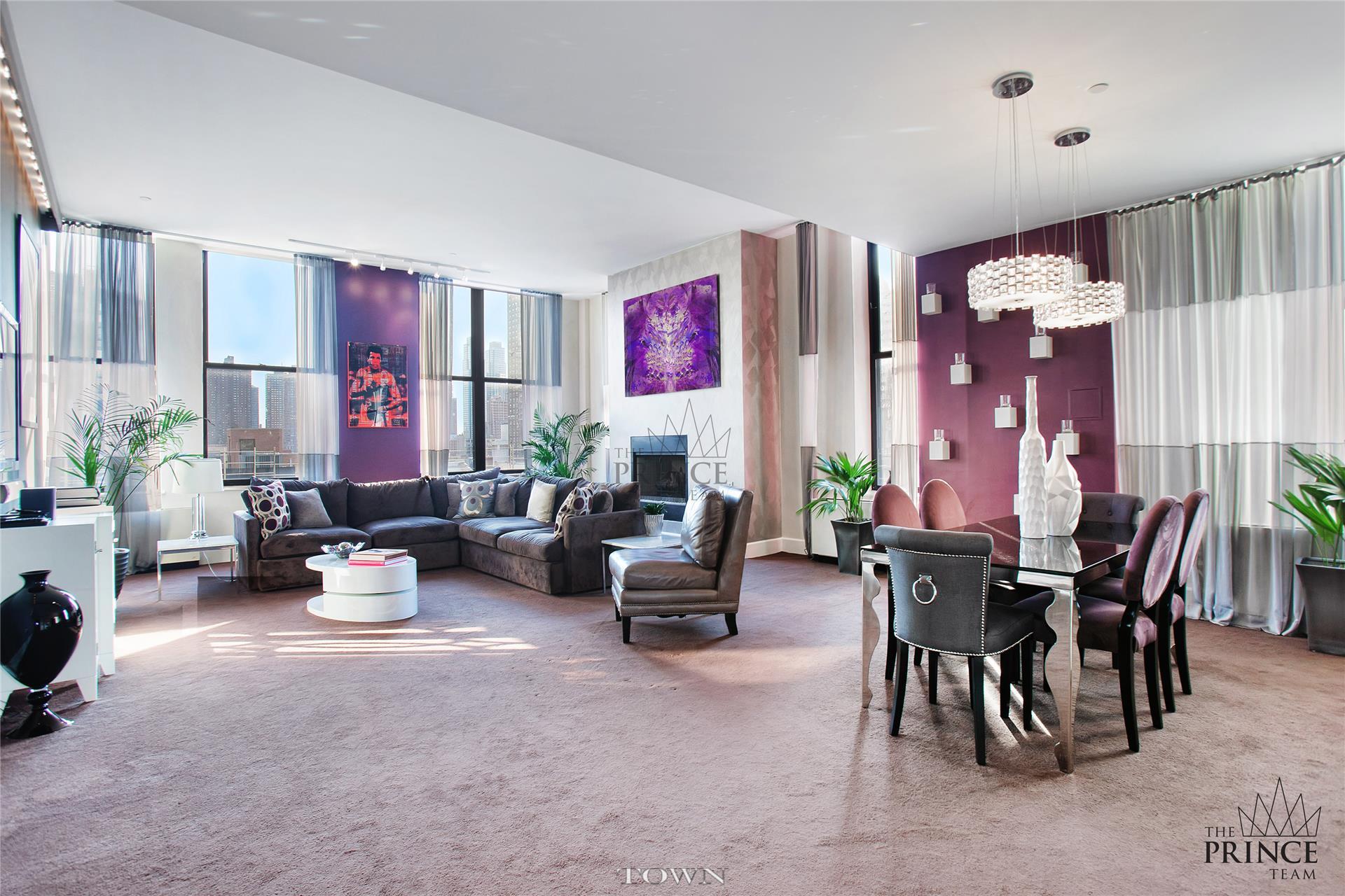 Condominium for Rent at Hit Factory Condominium, 421 West 54th Street, #ph-C 421 West 54th Street New York, New York 10019 United States