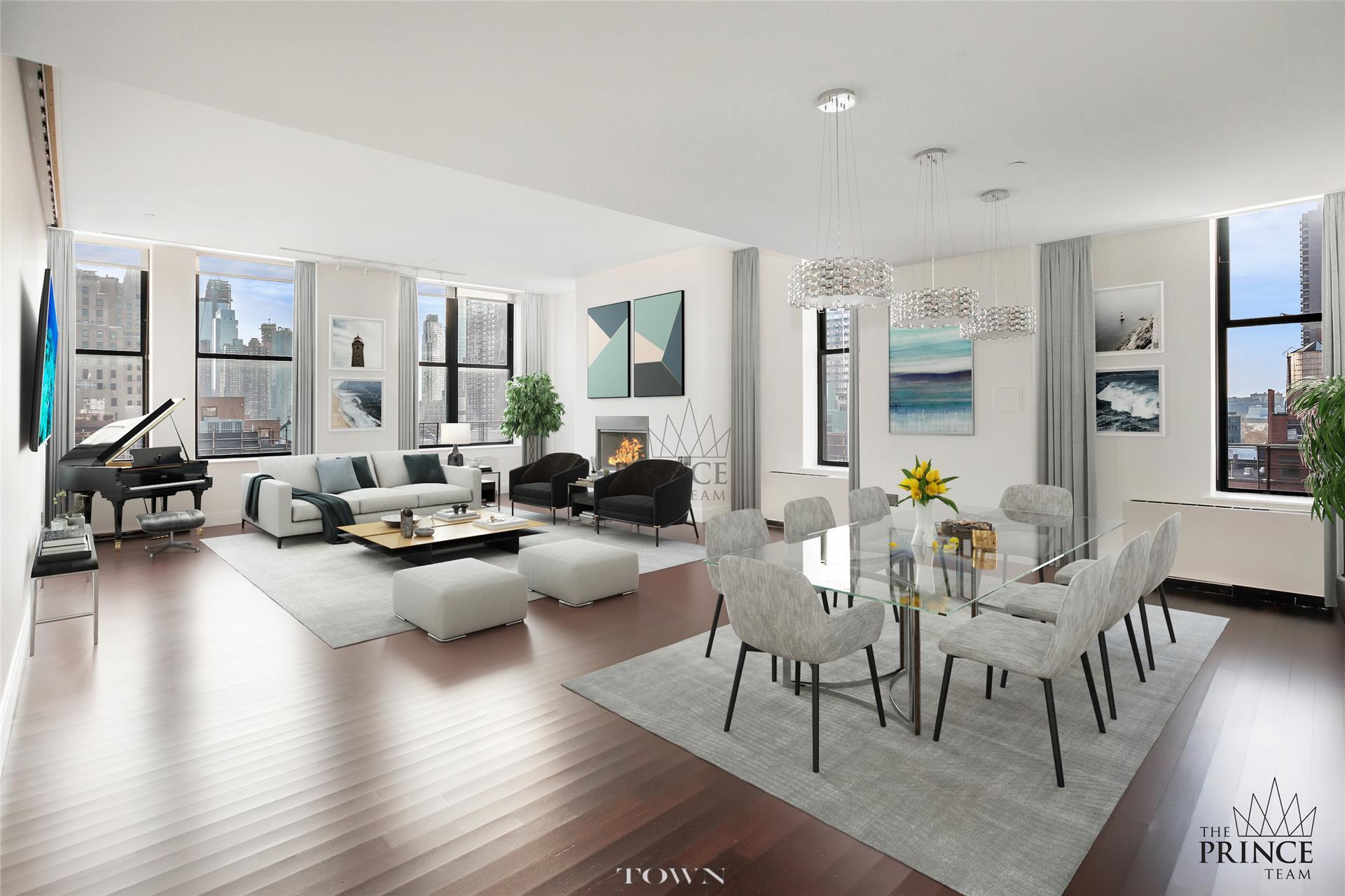 Condominio por un Alquiler en Hit Factory Condominium, 421 West 54th Street, #Ph-C 421 West 54th Street New York, Nueva York 10019 Estados Unidos