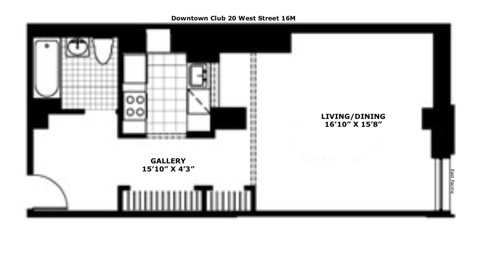 #1780234   20 West Street #16M New York NY 10002