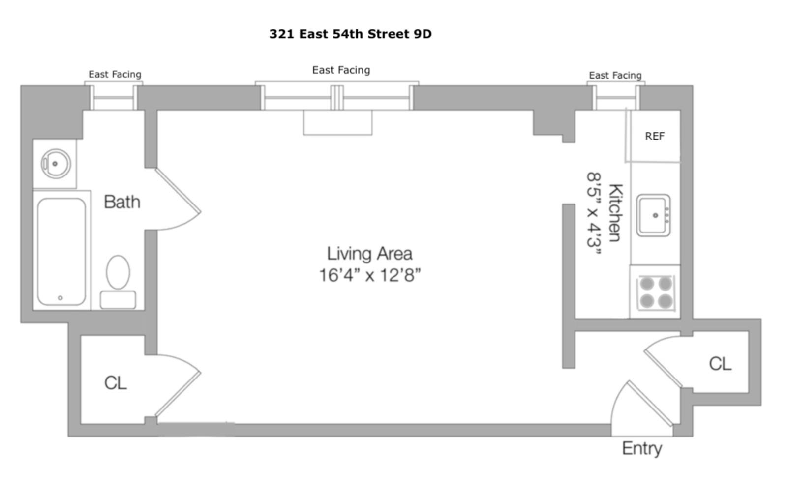#1780243   321 East 54th Street 9D New York NY 10022
